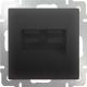 Розетка Werkel WL08-RJ11+RJ45 / a029857 (черный матовый) -