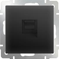 Розетка Werkel WL08-RJ-11 / a029855 (черный матовый) -
