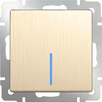 Выключатель Werkel WL10-SW-1G-2W-LED / a035615 (шампань рифленый) -