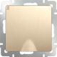 Розетка Werkel WL10-SKGSC-01-IP44 / a035621 (шампань рифленый) -