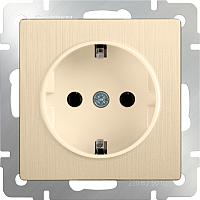 Розетка Werkel WL10-SKGS-01-IP44 / a035620 (шампань рифленый) -