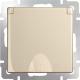 Розетка Werkel WL11-SKGSC-01-IP44 / a040914 (шампань) -