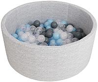 Игровой сухой бассейн Romana Airpool ДМФ-МК-02.53.01 (150 шариков, серый) -