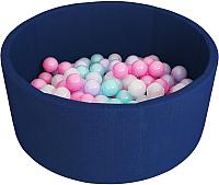 Игровой сухой бассейн Romana Airpool ДМФ-МК-02.53.01 (150 шариков, темно-синий) -