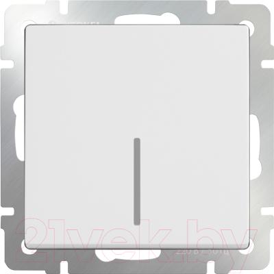 Выключатель Werkel WL01-SW-1G-LED / a030766 (белый)