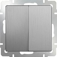 Выключатель Werkel WL09-SW-2G / a035655 (cеребряный рифленый) -
