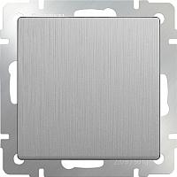 Выключатель Werkel WL09-SW-1G / a035651 (cеребряный рифленый) -