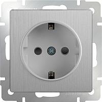 Розетка Werkel WL09-SKG-01-IP20 / a035648 (cеребристый рифленый) -