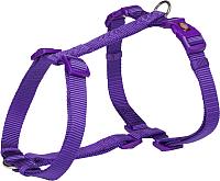 Шлея Trixie Premium H-harness / 203421 (M/L, фиолетовый) -