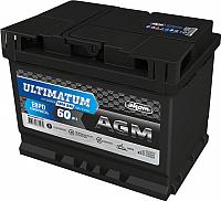 Автомобильный аккумулятор AKOM Ultimatum AGM Евро / 6СТ-60VRLA (60 А/ч) -