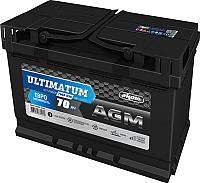 Автомобильный аккумулятор AKOM Ultimatum AGM Евро / 6СТ-70VRLA (70 А/ч) -