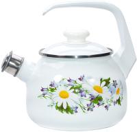 Чайник со свистком Лысьвенские эмали Ромашковое поле С-2711 АП/4Рч -