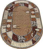 Ковер Белка Лайла Де Люкс Овал 15104 10122 (1.8x2.6) -