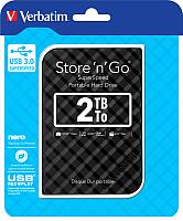 Внешний жесткий диск Verbatim Store 'n' Go USB 3.0 2TB / 53195 (черный) -