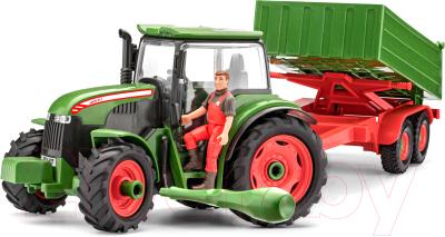 Трактор игрушечный Revell Трактор с прицепом и фигуркой 1:20 / 00817