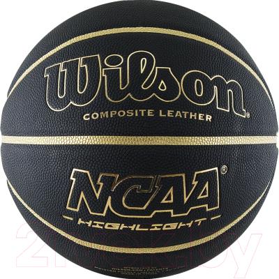 Баскетбольный мяч Wilson NCAA Highlight Gold / WTB067519XB07