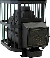 Печь-каменка Сибирь Сетка 18 (с чугунной дверкой) -