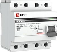 Устройство защитного отключения EKF PROxima ВД-100 4P 25А 30мА / elcb-4-25-30-em-pro -