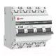 Выключатель автоматический EKF PROxima ВА 47-63 4P 63А (C) 4.5kA / MCB4763-4-63C-pro -