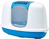 Туалет-домик Savic Nestor Corner 200300WTB (белый/синий) -