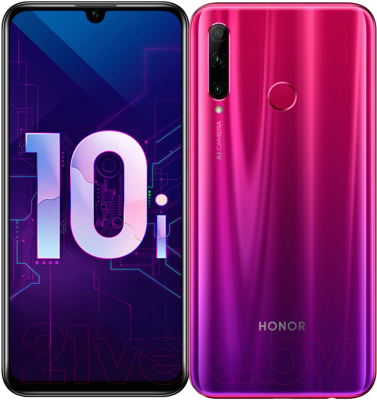Смартфон Honor 10i 4GB/128GB / HRY-LX1T (мерцающий красный)