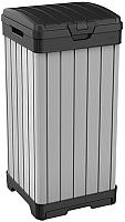 Контейнер для мусора Keter Rockford Bin 125L / 236996 (черный/серый) -