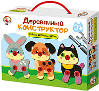 Конструктор Десятое королевство Зайка, собачка, котик / 02857 -
