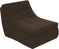 Модуль мягкий Лига Диванов Холидей Модуль / 101918 (микровельвет коричневый) -
