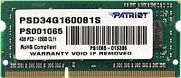 Оперативная память DDR3 Patriot PSD34G160081S -