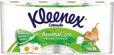 Туалетная бумага Kleenex Cottonelle Aroma Care Нежная ромашка (8рул)