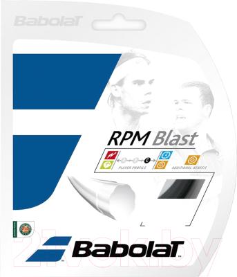 Струна для теннисной ракетки Babolat Rpm Blast / 241101-105-125 (12, черный)