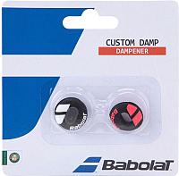 Виброгаситель для теннисной ракетки Babolat Custom Damp X2 / 700040-189 (2шт, черный/красный неон) -