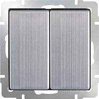 Выключатель Werkel WL02-SW-2G-2W / a028845 (глянцевый никель) -