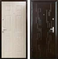 Входная дверь Промет Орион Сити 2 беленый дуб/медный антик (88x206, левая) -