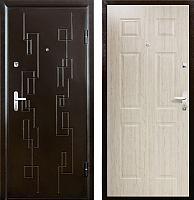 Входная дверь Промет Орион Сити 2 беленый дуб/медный антик (88x206, правая) -