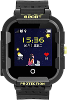 Умные часы детские Wonlex KT03 (черный) -