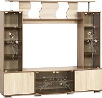 Стенка SV-мебель Нота 23 Ж (ясень шимо темный/ясень шимо светлый) -