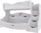 Двухъярусная кровать детская SV-мебель Акварель 1 Ж 80x200 (ясень анкор светлый/белый матовый/цветы) -