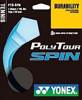 Струна для теннисной ракетки Yonex Polytour SPIN 125 SET / NT125PSS (12м, черный) -
