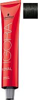 Крем-краска для волос Schwarzkopf Professional Igora Royal Permanent Color Creme 1-0 (60мл) -