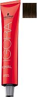 Крем-краска для волос Schwarzkopf Professional Igora Royal Permanent Color Creme 4-0 (60мл) -