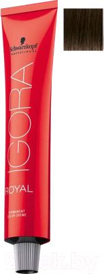 Крем-краска для волос Schwarzkopf Professional Igora Royal Permanent Color Creme 4-0 (60мл)