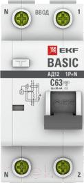 Дифференциальный автомат EKF Basic АД-12 1P+N 20А 30мА АС C / DA12-20-30-bas