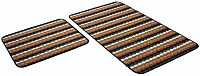 Набор ковриков Shahintex PP Loop Loop 50x80/50x40 (кирпичный) -