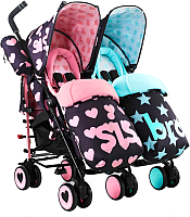 Детская прогулочная коляска Cosatto Supa Dupa / 3534 (Sis and Bro) -