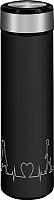 Термос для напитков Lara LR04-19 (черный/сталь) -