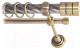 Карниз для штор Lm Decor Цилиндр 088 2р витой 25/16мм (антик, 1.6м) -