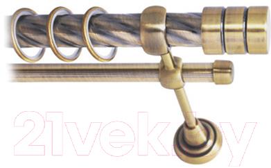 Карниз для штор Lm Decor Цилиндр 088 2р витой 25/16мм (антик, 2.4м)