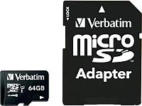 Карта памяти Qumo microSDXC (Class 10) 64GB (QM64GMICSDXC10U3) -