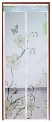 Москитная дверь Feniks FN220 (цветы)